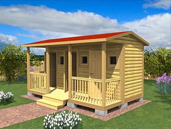 Садовый домик №16 (5 X 3м)