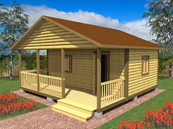 Садовый домик №17 (6 X 6м)